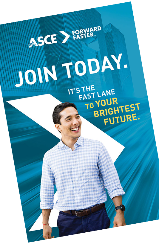 ASCE membership brochure and application cover